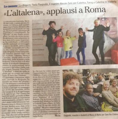 "L'Altalena a Roma per il concorso ""Save the Children"""